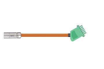 readycable® servo cable acc. to Beckhoff standard ZK4000-2111-xxxx, base cable PVC 10 x d